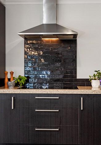 Kitchen stove rangehood dark
