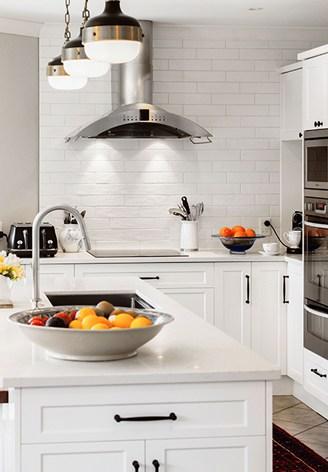 Kitchen stove rangehood white